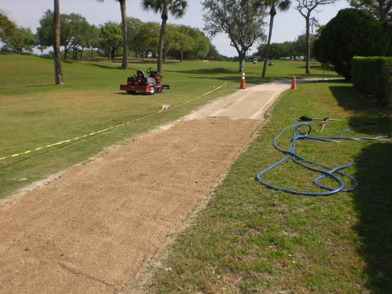 Golf path watering